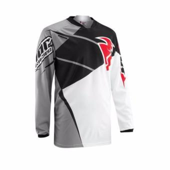 Fortress Cycling Mountain Bike Long Sleeve Jersey(Grey/White/Black/Red)