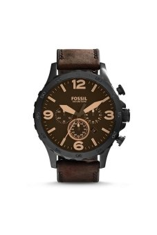 Fossil Men's Brown Leather Strap Watch JR1487