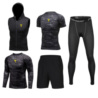 Four quick-drying slim fit clothing fitness clothing (KB5006 five pieces set)