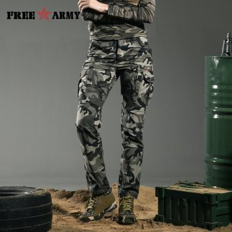 Free Army Outdoor Tactical Pants For Women Military CamouflageCargo Pants - intl