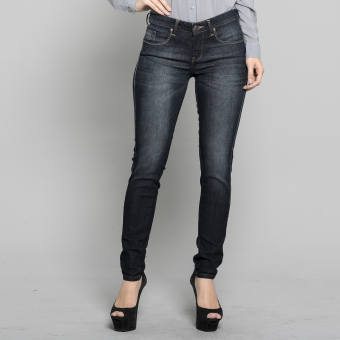 Freego Ladies Alessandra Super Skinny Slimming Denim Jeans(Blue/Black)