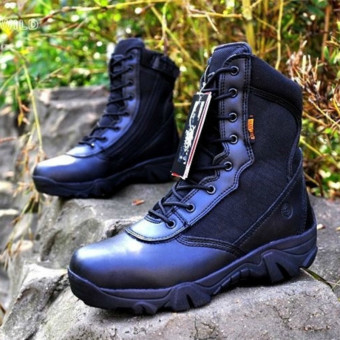 FSW Men's Outdoor Desert Army Tactical Boots Breathable TrekkingBoots -black - Intl