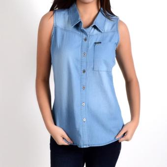 Fubu Queens QGT08-0001 Sleeveless Blouse (Medium Wash)
