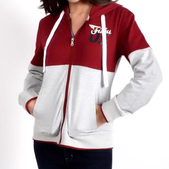 Fubu Queens QGT15-0001 Jacket With Hood (Deep Maroon )