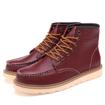 Gao Bang winter New style Martin boots (Wine red color)