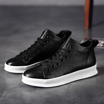 Gao Banghan version of men autumn New style BayMini shoes hight-top shoes (Black)