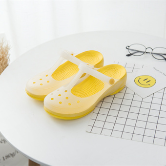 Garden Plus-sized sandals porous shoes (Malizhen yellow)