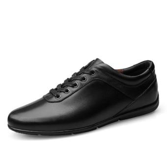 Genuine Cow Leather Lace-up Shoes Men's Black Business Low cutShoes Price Philippines