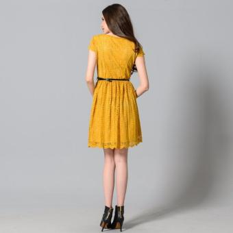 Get Laud Sd Samantha Lace Dress (Yellow) - 4