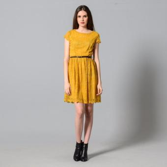 Get Laud Sd Samantha Lace Dress (Yellow)