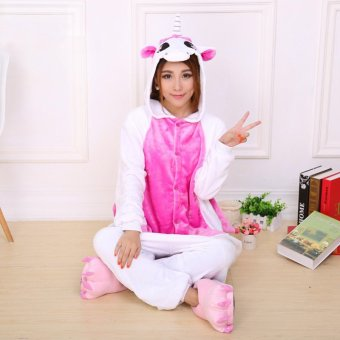 GETEK Unicorn Adult Unisex Pajamas Cosplay Costume Onesie SleepwearS-XL (Pink)