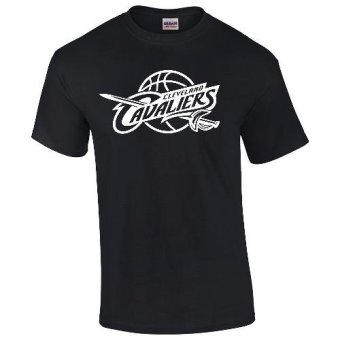 Gildan Brand Cleveland Cavaliers NBA Team Design T-Shirt (Black)