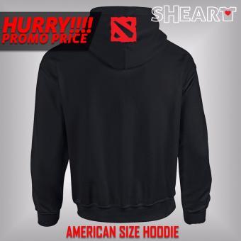 Gildan Brand Contrast Hoodie Jacket Dota 2 (Black/Red) - 2