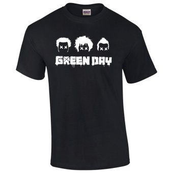 Gildan Brand Green Day Vintage Retro Band Logo Design T-Shirt(Black) Price Philippines