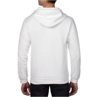 Gildan Full-zip Hooded Sweatshirt (White) - 2