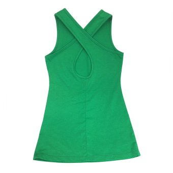 Girl Clothing Kids Backless Beach ankle Long dresses Hoilday partydress(green) - 3