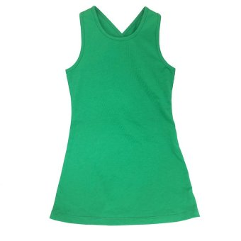 Girl Clothing Kids Backless Beach ankle Long dresses Hoilday partydress(green) - 2