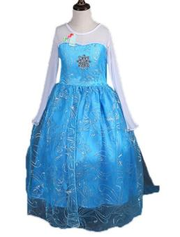 Girls Elsa Costume Princess Child Fancy Outfit Party Long Dresses -Intl Price Philippines