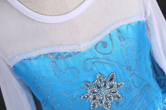 Girls Elsa Costume Princess Child Fancy Outfit Party Long Dresses - Intl - 5