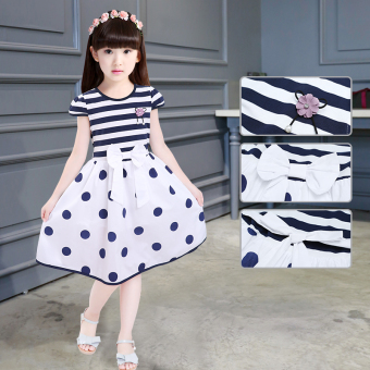 Girls New style children's short sleeved princess dress