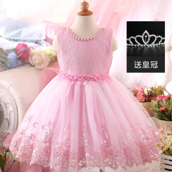 Girls New style princess dress children's dress (Pink) (Pink)