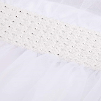 Girls Princess Wedding Party Pageant Tulle Dresses White - 3
