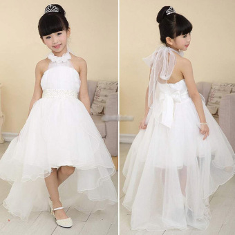 Girls Princess Wedding Party Pageant Tulle Dresses White - 4