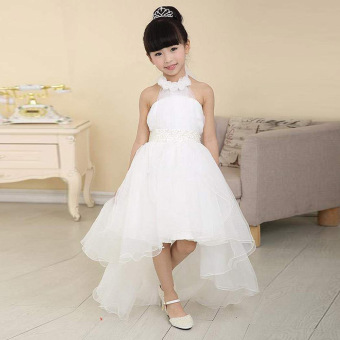 Girls Princess Wedding Party Pageant Tulle Dresses White - 5