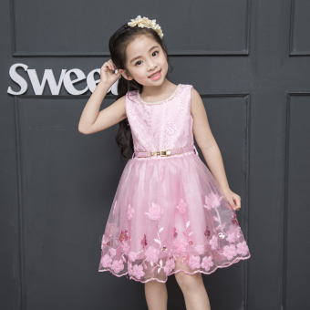 Girls small girl's princess dress Dress (Pink)