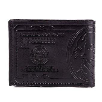 Glamorosa Dollar Bill Men's Wallet (Brown) - 3