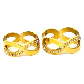 Glamorosa Infinity Couple Rings (Gold) Price Philippines