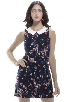 Glamorous Peter Pan Collar Dress (Multi)