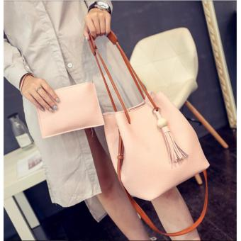 GMY Korean 2 in 1 Bucket Bag and Make up Pouch Sling Bag - Pink