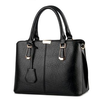 goges Womens Boutique PU Leather Shoulder Bags Top-Handle Handbag Tote Purse Bag Black Price Philippines