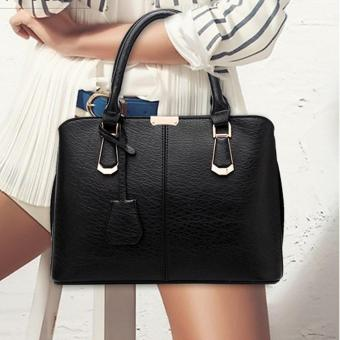 goges Womens Boutique PU Leather Shoulder Bags Top-Handle Handbag Tote Purse Bag Black - 3