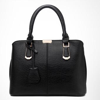 goges Womens Boutique PU Leather Shoulder Bags Top-Handle Handbag Tote Purse Bag Black - 5