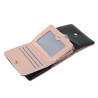 GOOD Lady Leather Clutch Bifold Short Wallet Card Holder Purse Handbag Black - 3
