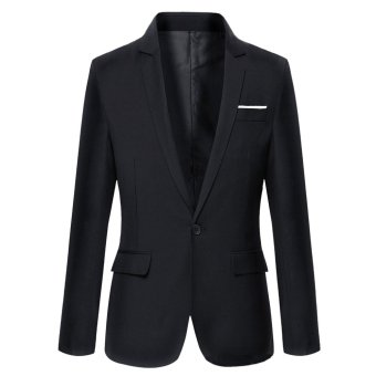 Good Quality Formal Business Men Suit Blazer Jacket(Black) - intl