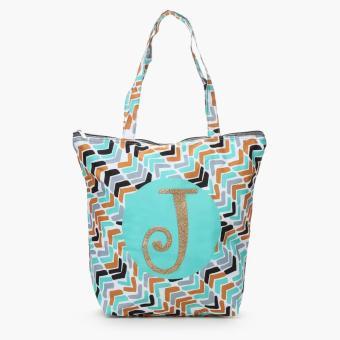 "Grab Ladies Yglitter ""J"" Chevron Tote Bag (Multicolored)"