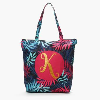 "Grab Ladies Yglitter ""K"" Botanical Tote Bag (Multicolored)"