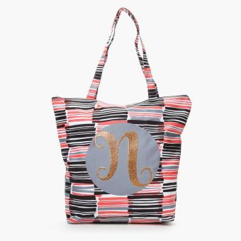 "Grab Ladies Yglitter ""N"" Striped Tote Bag (Multicolored)"