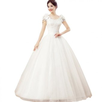 Grace Karin Floor Length Lace Wedding Dress Ivory Crystal Bride Bridal Gown