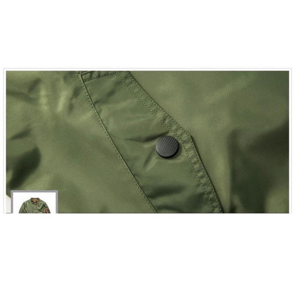 768d00299 Philippines   Grandwish Men Pilot Bomber Jacket Pure Color Coat Plus ...