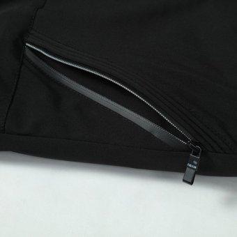 Grandwish Men Solid Bomber Jackets Striped lined Casual Coat Slim M-4XL (Black) - intl - 5
