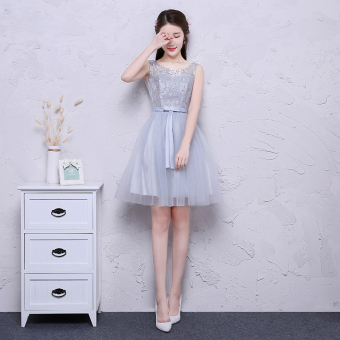 Gray New style bridesmaid dress sisters dress bridesmaid dress (Gray F Models)