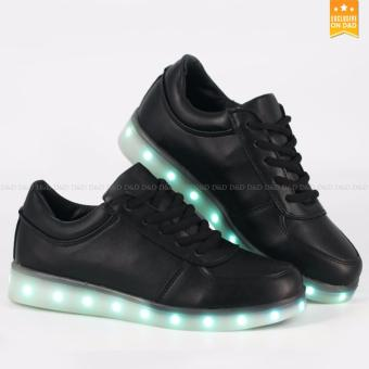 Greatnes D&D SML-01 Unisex Casual Low-uppers LED colorful Shoes (Black) Version2 Price Philippines