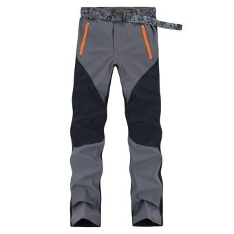 Grey Outdoor Quick-drying Pants Sport Camping Pants Men WomenWaterproof Windproof breathable Mountain Climbing Softshell Pants