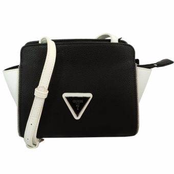 Guess Agata Color-Blocked Crossbody Bag (Black)