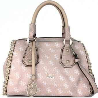 GUESS Confidential Chain Frame Satchel Bag (Rose)