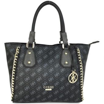 GUESS Confidential Chain Tote Bag (Black)